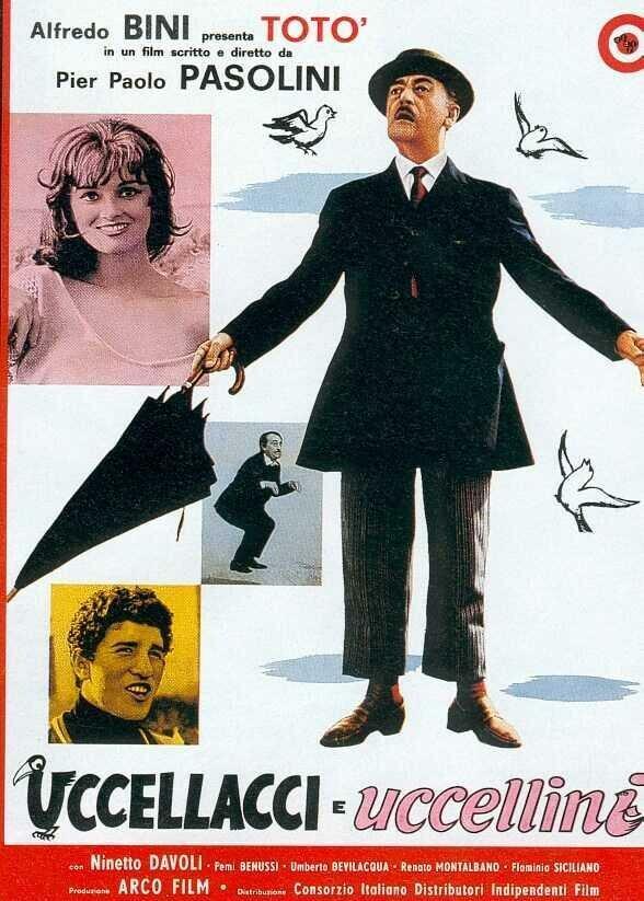 Птицы большие и малые / Uccellacci e uccellini (1966)